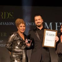 M Hair scooped several trophies in the Great Lengths awards, continuing our long run of success. James Henderson picked up the Outstanding Performance Platinum Salon award whilst Samantha Rubino won the Bridal Creation award. James is also seen picking up the Extensions Excellence award.